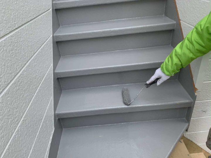 階段塗床中