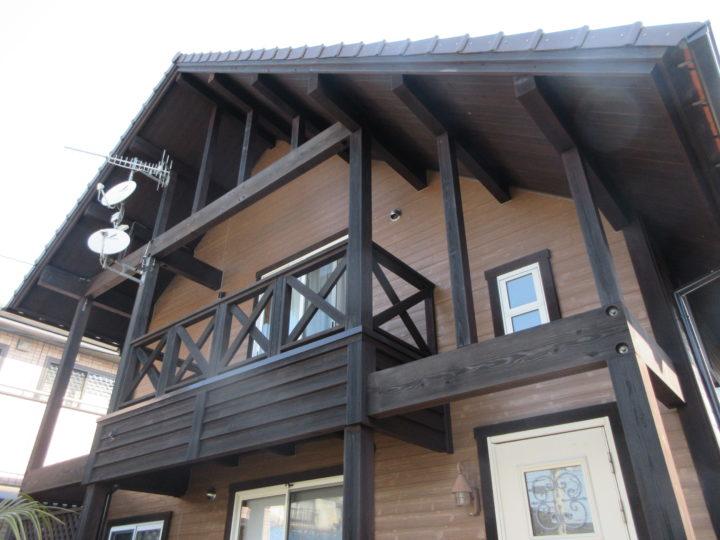 糸島市 N様邸 外壁、木部塗装