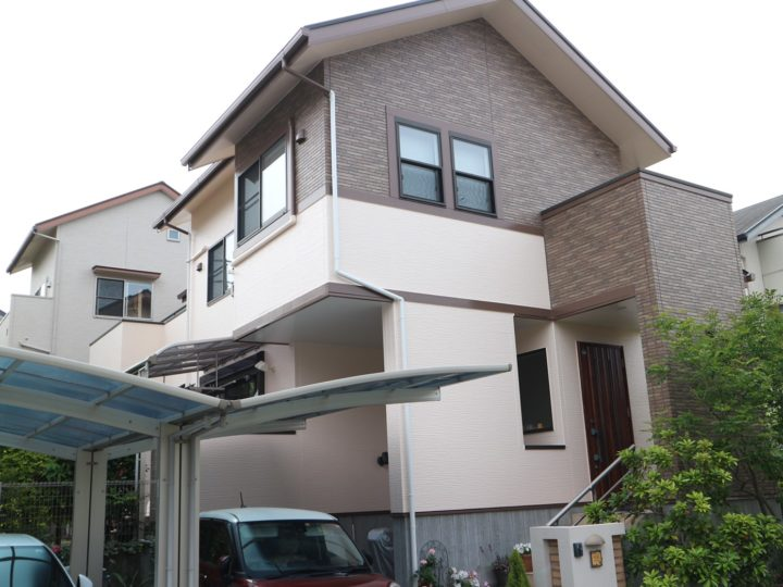 福岡市西区 M様邸 屋根塗装、外壁塗装、防水工事