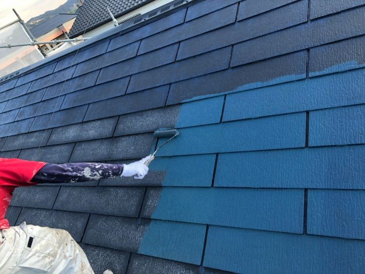 【屋根】中塗り