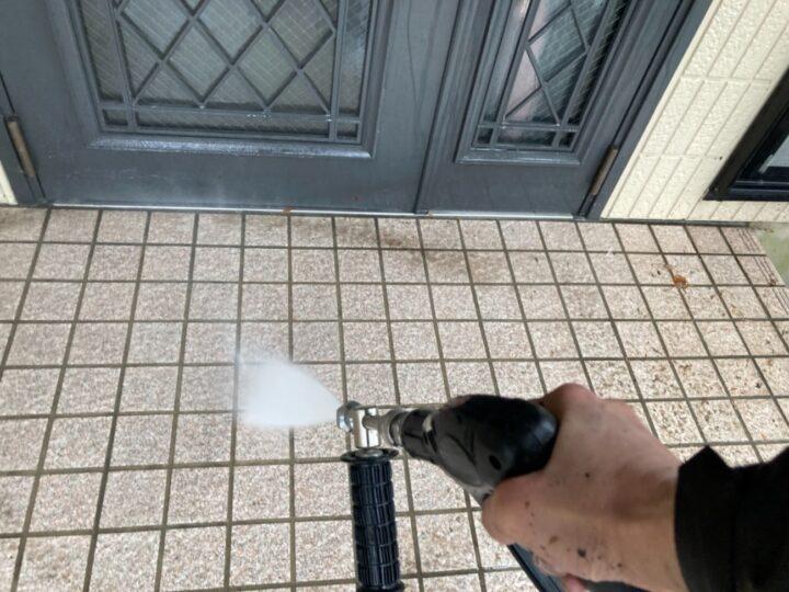 【高圧洗浄】玄関