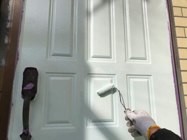 【上塗り2回目】玄関ドア