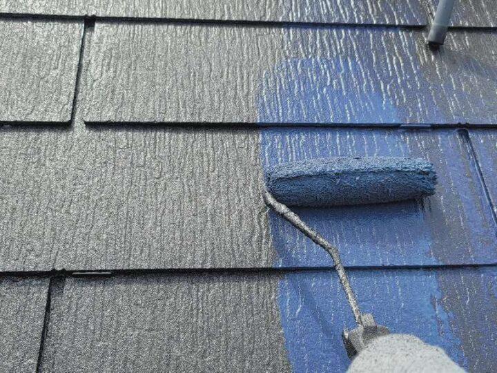 【屋根】上塗り
