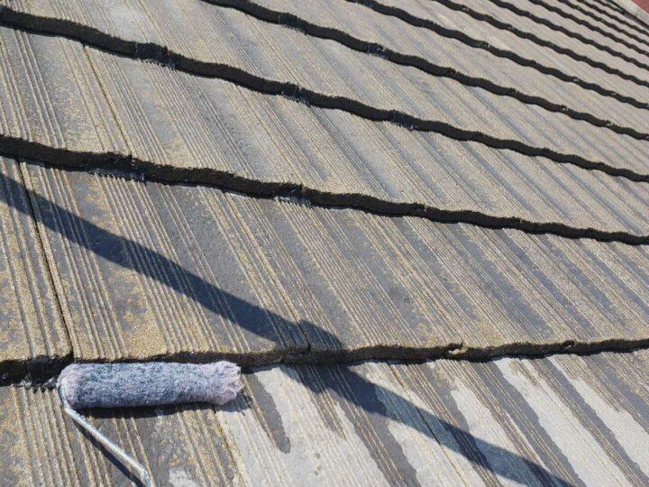 【屋根】下塗り