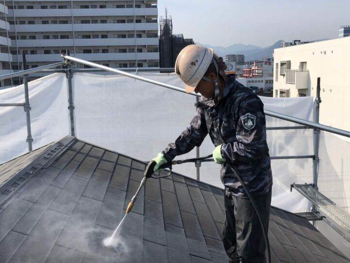 【高圧洗浄】屋根・壁