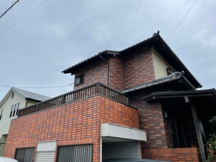 糸島市 K様邸 外壁塗装・タイル貼り工事