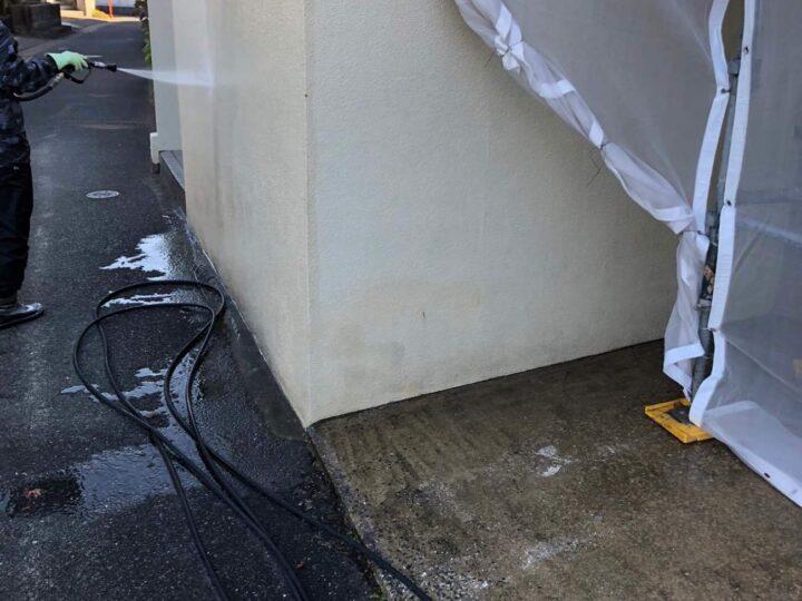 【高圧洗浄】 塀