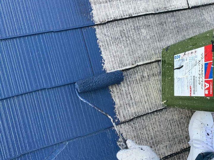 【屋根】 中塗り