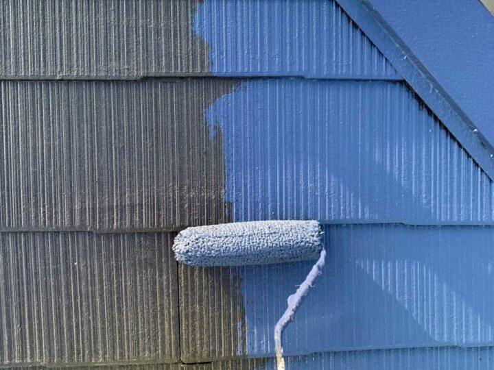 【屋根】 上塗り