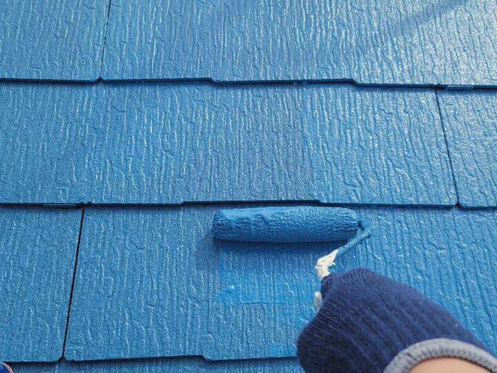 【上塗り】 屋根