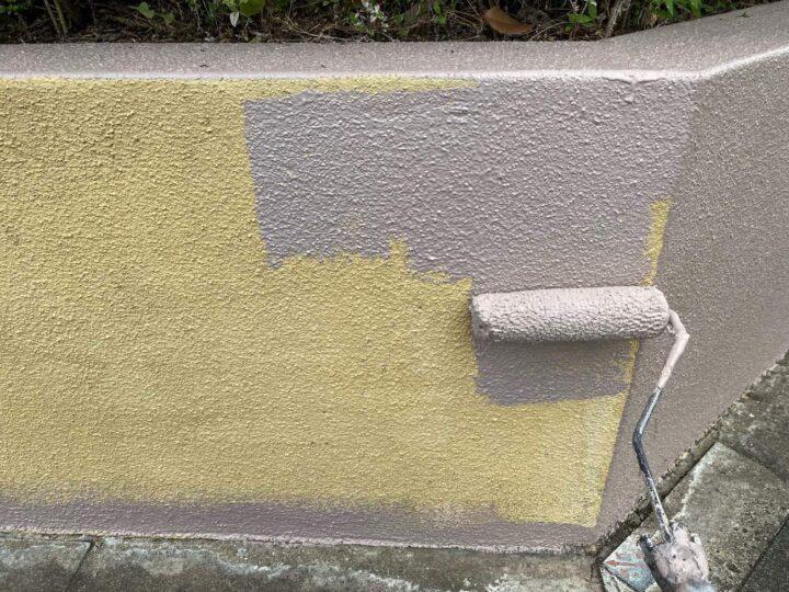 【中塗り】 塀